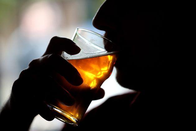 SANTA ROSA, CA - FEBRUARY 07: A Russian River Brewing Company customer takes a sip of IPA