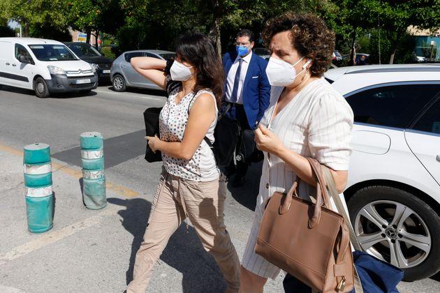 Juana Rivas, durante su en el CIS del que salió hace sólo 15