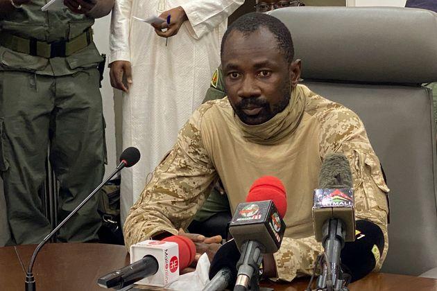 Le colonel Assimi Goita, actuel président de la transition du Mali, le 19 août 2020 à