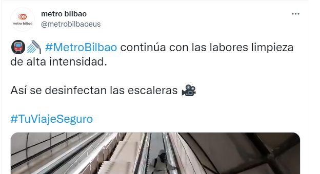 El tuit del metro de Bilbao que desata el