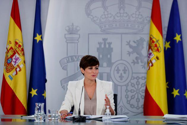 La ministra de Política Territorial y portavoz del Gobierno, Isabel Rodríguez durante la rueda de prensa...