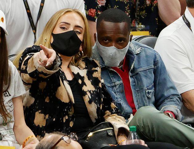 Adele, en el partido de la