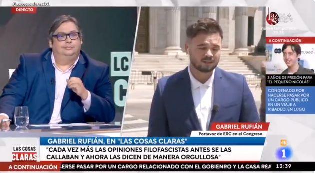 Gabriel Rufián en pleno directo de