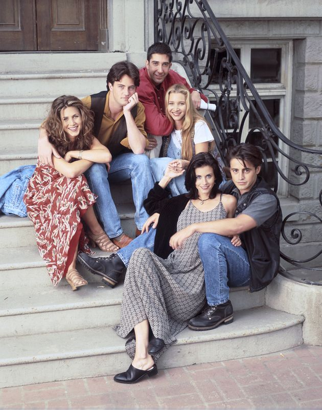 The cast of Friends pictured in