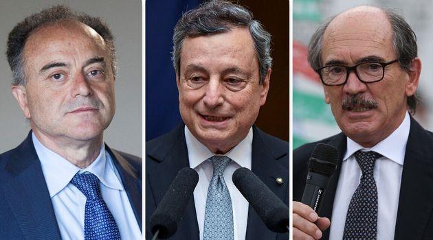Nicola Gratteri, Mario Draghi e Federico Cafiero de Raho