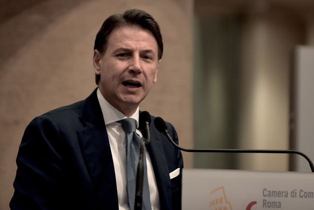ROME, ITALY - JUNE 28: Former Prime Minister Giuseppe Conte holds a press conference at the Tempio di Adriano on the future of the Five Star Movement, his leadership project and the problems with sponsor Beppe Grillo on June 28, 2021 in Rome, Italy. (Photo by Simona Granati - Corbis/Getty Images)