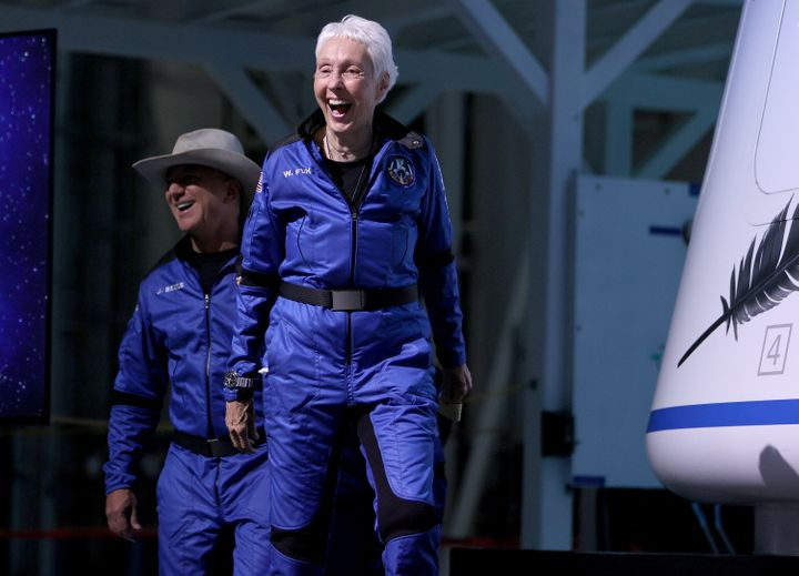 Wally Funk, 82, became the oldest person to ever travel to space on Tuesday.