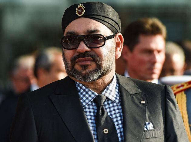 Le roi du Maroc Mohamed VI, ici à Rabat le 15 novembre 2018 pour la visite d'Emmanuel