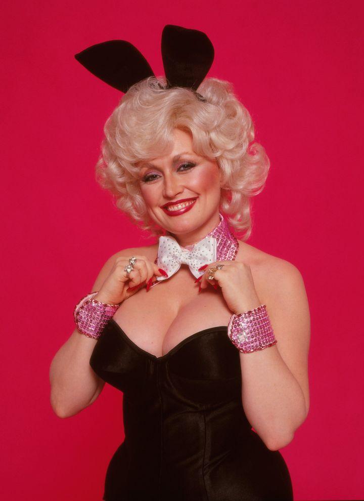 Dolly Parton como apareció en la edición de octubre de 1978 de Playboy. & Nbsp;