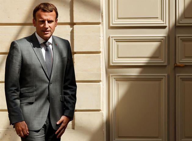 El presidente de Francia, Emmanuel Macron, en