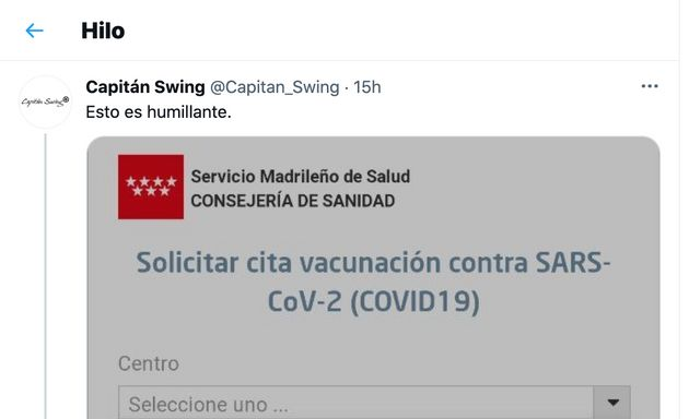 Tuit de Capitan Swing sobre