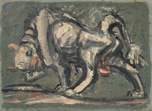 이중섭의 1950년대 수작 <흰 소>. 국립현대미술관 이건희컬렉션 특별전의 대표작으로 꼽힌다.