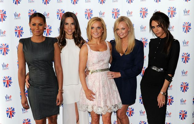 The Spice Girls at the launch of Viva Forever in
