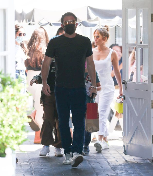Ben Affleck and Jennifer Lopez pictured earlier this
