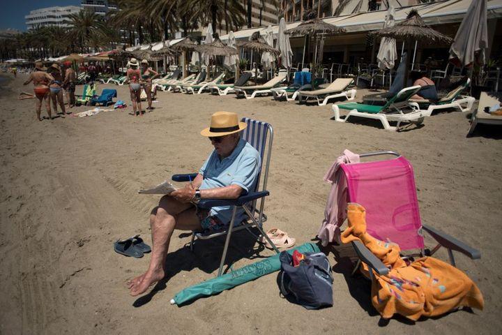 Un turista español en Marbella.