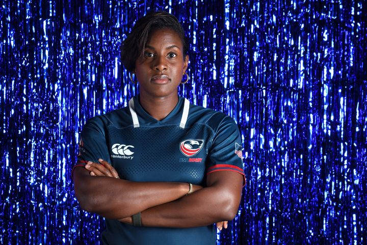 Rugby player Naya Tapper poses for a portrait during the Team USA Tokyo 2020 Olympics shoot on Nov. 20, 2019, in West Hollywood, California.