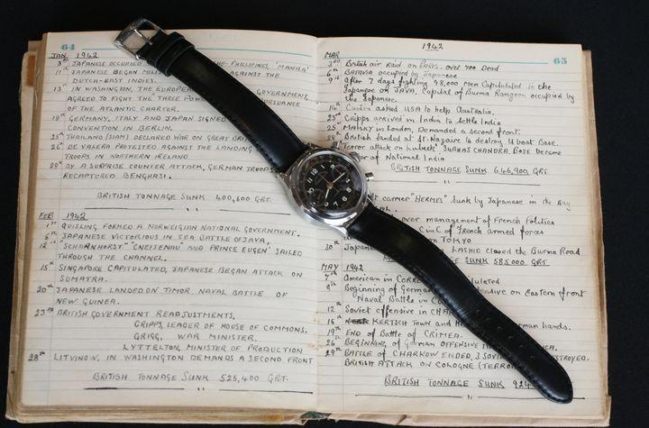 El Rolex 3525 Oyster Chronograph que fue usado por Clive James Nutting e inmortalizado en la película 'La gran evasión'.