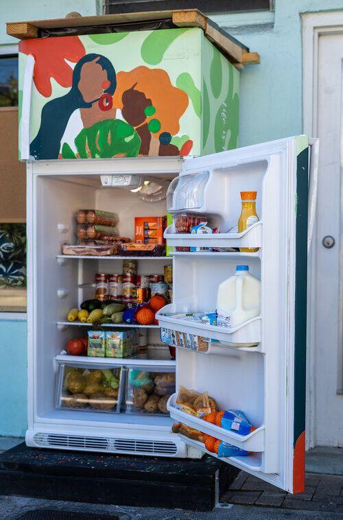 A refrigerator in Buddy System MIA's Coconut Grove location.