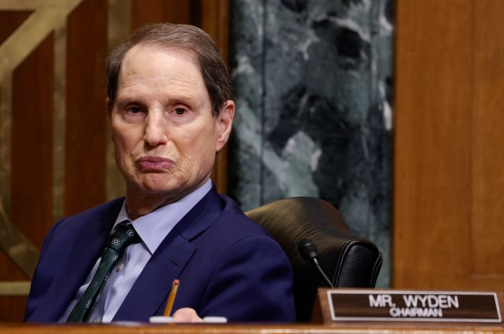 Sen. Ron Wyden (D-Ore.) presides over a Senate Finance Committee hearing June 8 as the panel hears testimony on the IRS budge