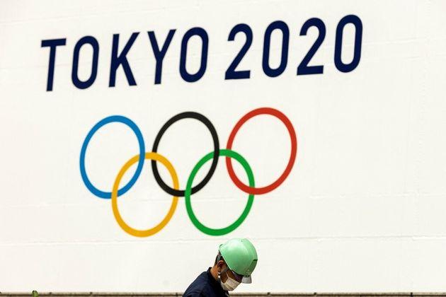 Un logo des JO de Tokyo, le 15 juillet