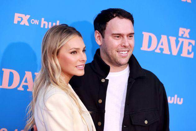 Yael Cohen and Scooter Braun pictured at an event last month