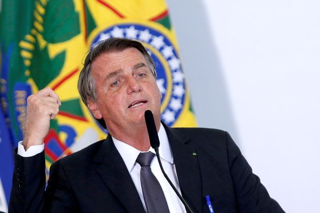 Jair Bolsonaro, el pasado 13 de julio, en una rueda de prensa en el Palacio presidencial de