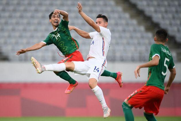 Le match de foot opposant la France au Mexique lors des JO de Tokyor, le 22 juillet