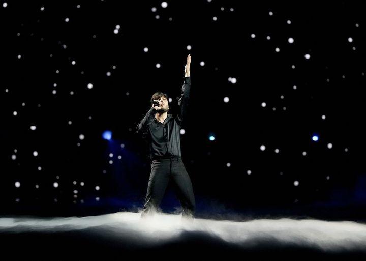 Blas Cantó en Eurovisión 2021.