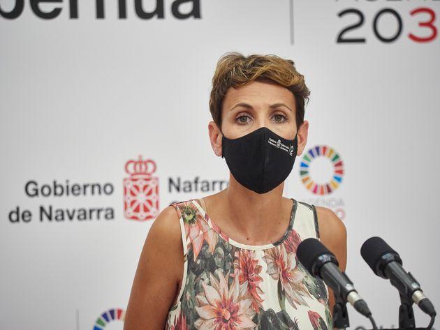 La presidenta navarra, María Chivite, en una foto de
