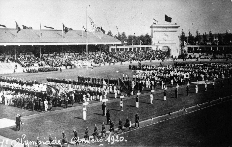 Olympic Games Antwerpen 1920: Opening ceremony (Photo by RDB/ullstein bild via Getty