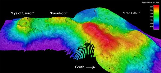 Image sonar du volcan