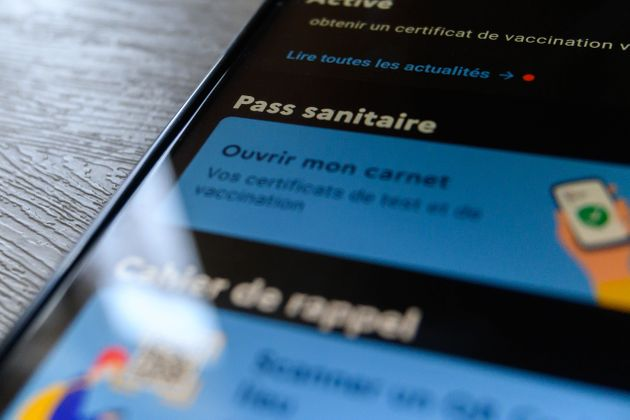 A view of the ''Tous Anti Covid'' app in Paris, France, on July 21, 2021 amid the Covid-19 pandemic....