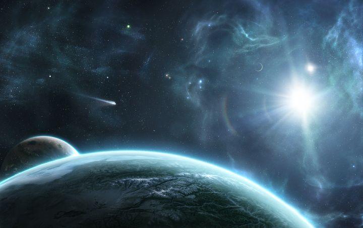Una imagen de la escena espacial.