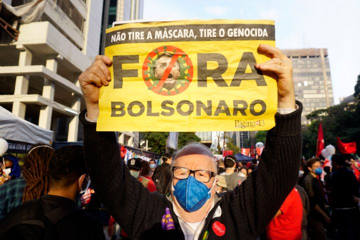 Rounds of mass protests calling for Bolsonaro's ouster have taken place in recent months, driving the right-wing president to