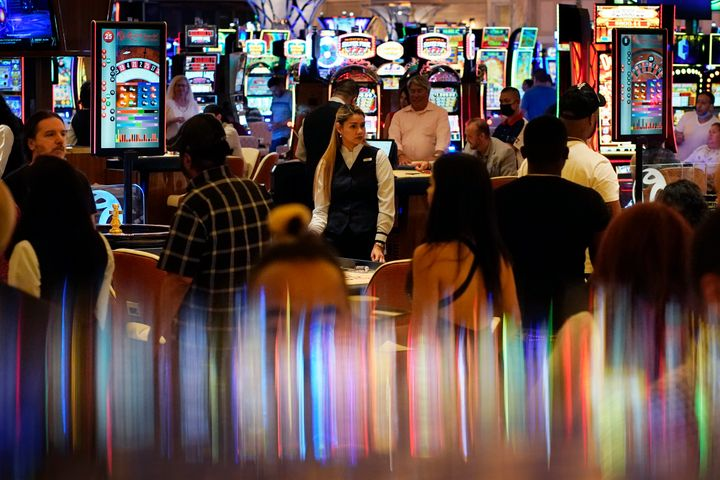 Crowds walk through the Resorts World Las Vegas casino during its opening night last month. Elected officials in tourism-depe