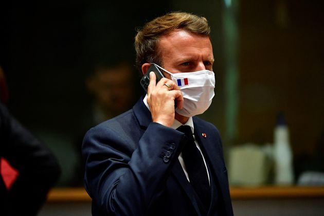 Emmanuel Macron, ici lors d'un sommet de l'UE à Bruxelles en Belgique, le 20 juillet