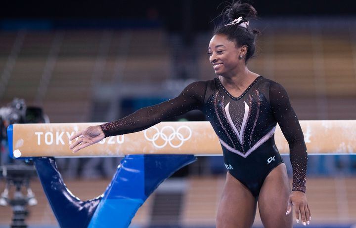 U.S. Olympic gymnast Simone Biles prepares for the Tokyo Games on Thursday. She and other teammates spoke up about the abuse