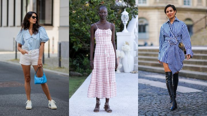 Gingham has appeared on many runways and street-style photo shoots of late.