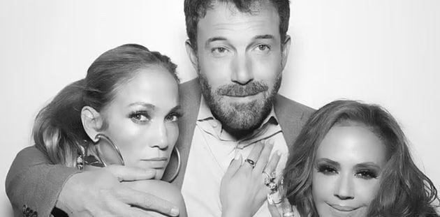 (L-R) Jennifer Lopez, Ben Affleck and Leah