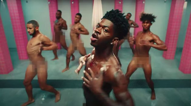 Lil Nas X dances nude in the Industry Baby music