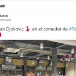 La atleta Ana Ferrer crea debate con esta foto con Djokovic: la clave, lo que sale haciendo