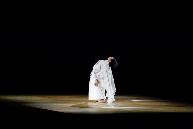TOKYO, JAPAN - JULY 23: A performer in action during the Opening Ceremony of the Tokyo 2020 Olympic Games...