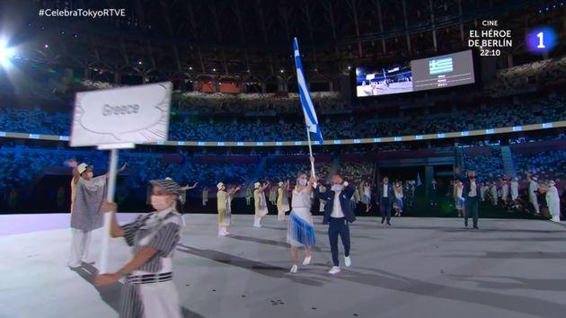 La salida de los deportistas