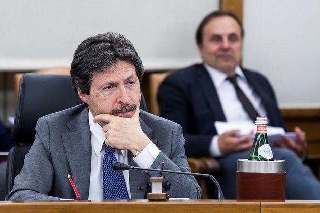 Il magistrato Riccardo Fuzio durante il Plenum straordinario del Consiglio Superiore della Magistratura...