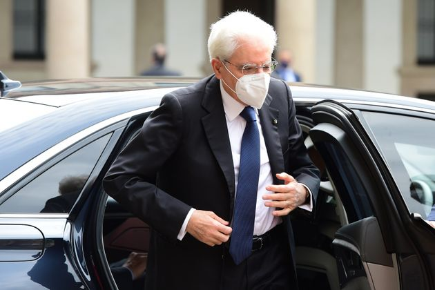 MILAN, ITALY - JUNE 08: Italian President Sergio Mattarella arrives at Universita Statale on June 08, 2021 in Milan, Italy. Today the President of the Republic Sergio Mattarella participates in a ceremony dedicated to the academic year 2020-2021. (Photo by Pier Marco Tacca/Getty Images)
