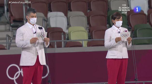 Ceremonia de apertura de los Juegos de Tokio