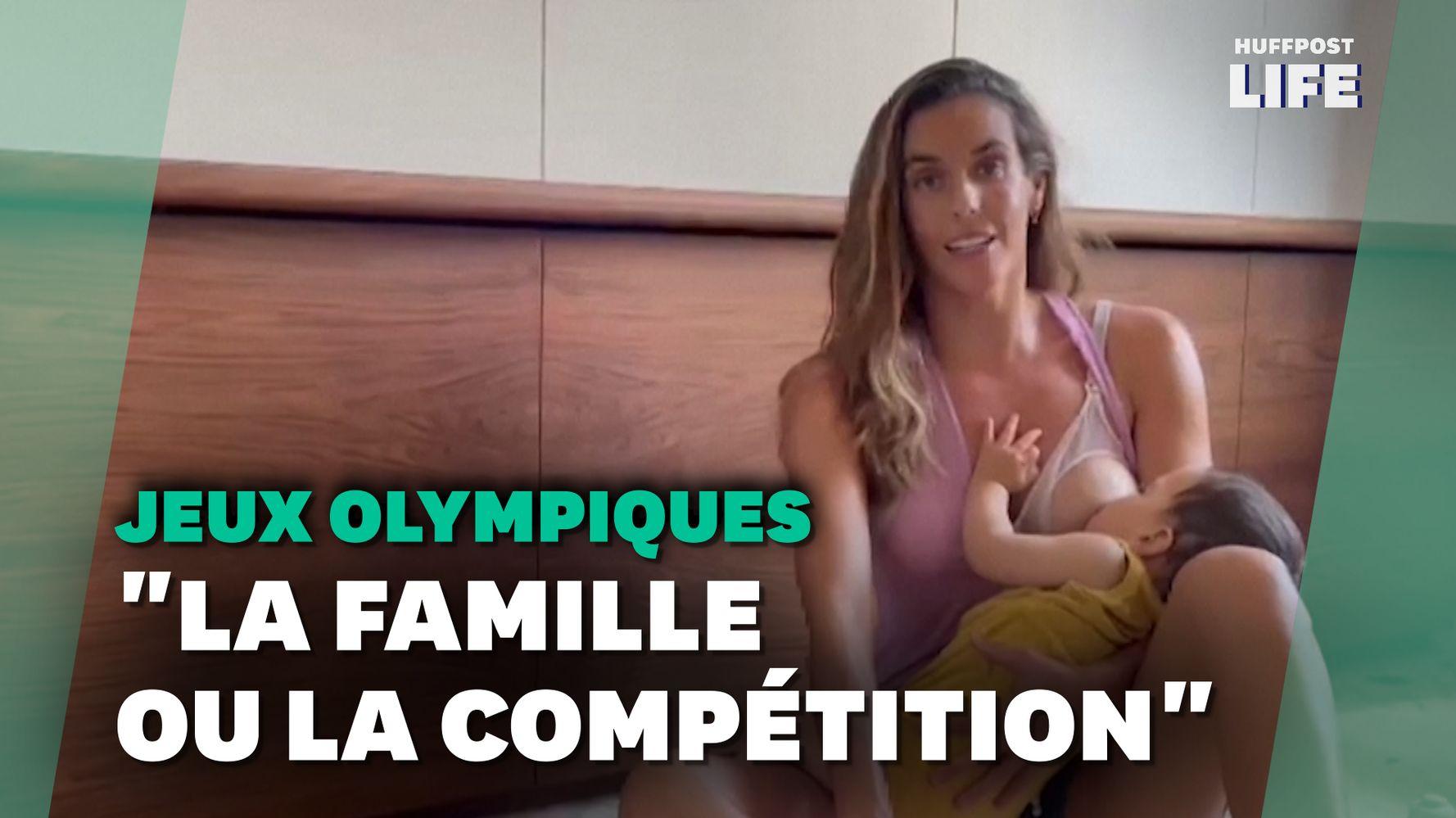 Cette nageuse espagnole contrainte de partir aux JO sans son fils qu'elle allaite