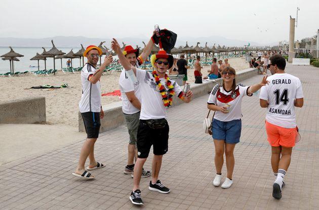 Turistas alemanes en Palma de Mallorca, el pasado 19 de
