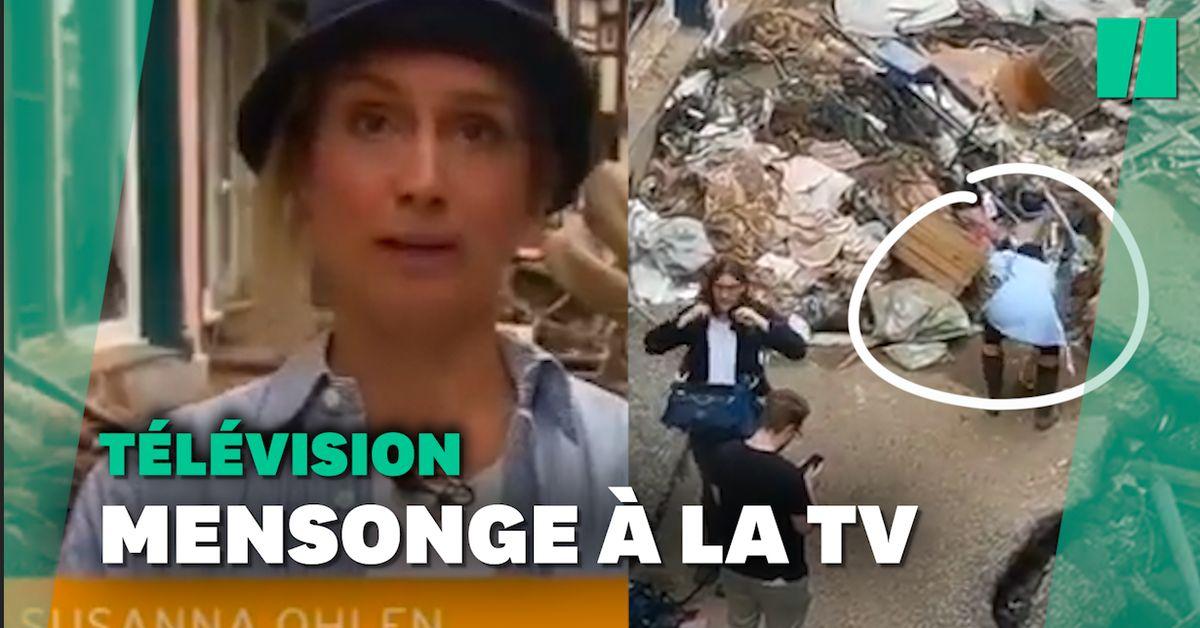 Une journaliste allemande virée pour avoir fait semblant de participer au nettoyage des inondations