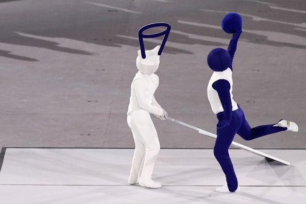 ピクトグラムを再現する東京オリンピック開会式のパフォーマンス